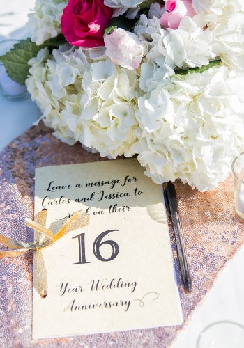 Weddings & Anniversaries to a Sweet Sixteen